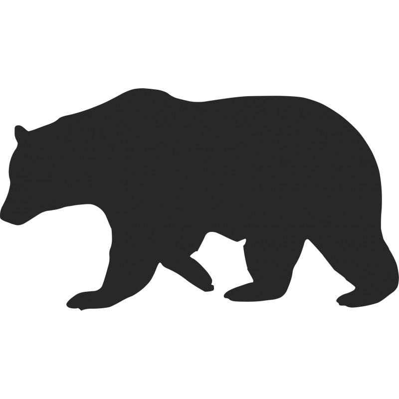 800x800 Pre Fused, Laser Cut Silhouettes Black Bear Walking