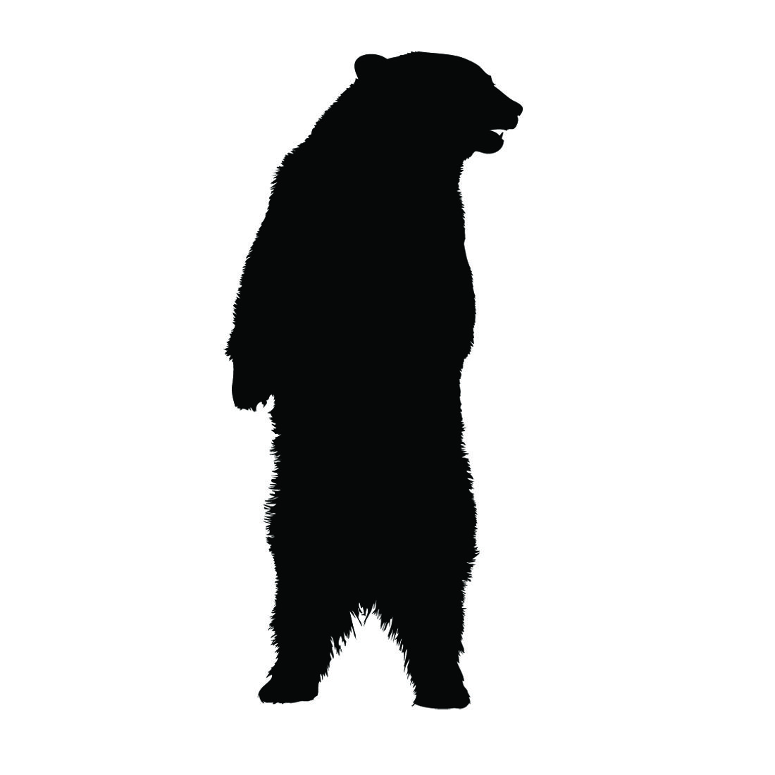 1100x1100 Standing Bear Silhouette Stencil Quilting Bear