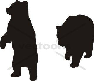320x276 Standing Bear Cub Silhouette Clipart Panda