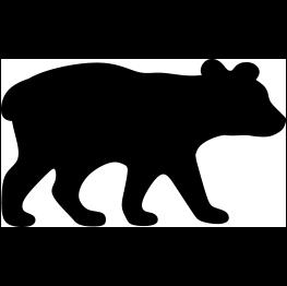 263x262 Bear Cub Silhouette Cricut Silhouettes, Bears
