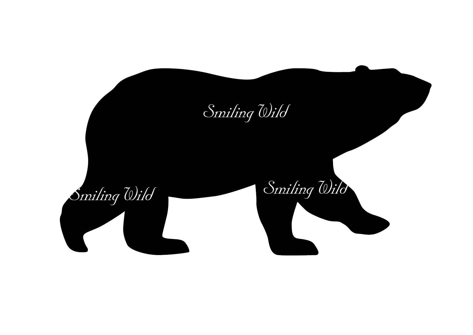 Bear And Cub Silhouette At Getdrawings Free For Personal Use