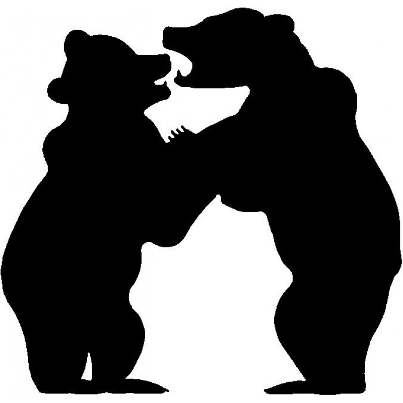 800x800 Bear Cubs Silhouette Wall Hanging Magnetic Memo Board
