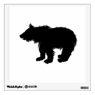 307x307 Bear Silhouette Wall Decals Amp Wall Stickers Zazzle