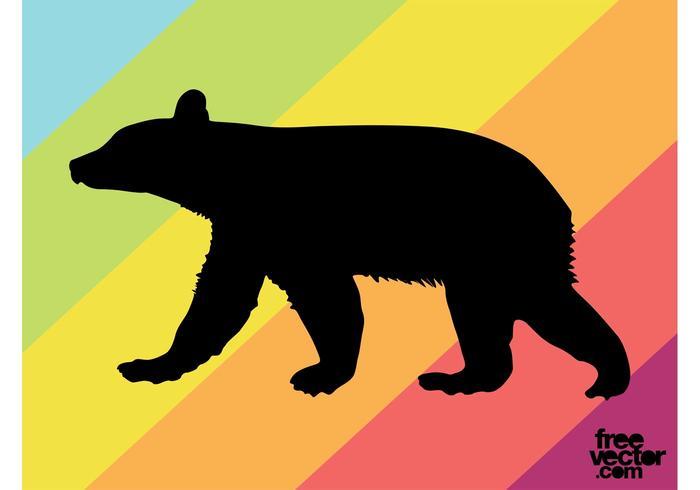 Bear Cub Silhouette