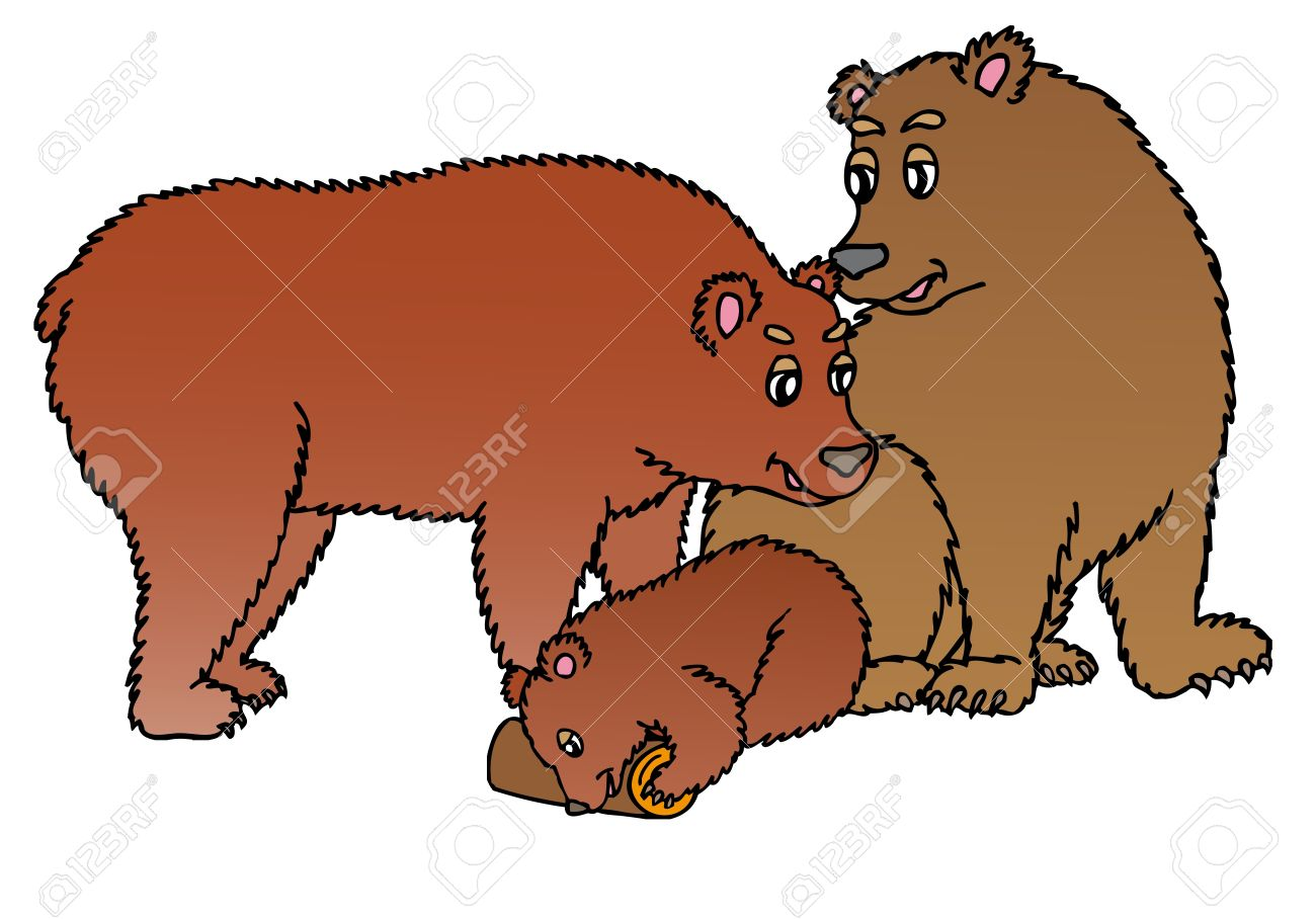 bear family silhouette at getdrawings com free for personal use
