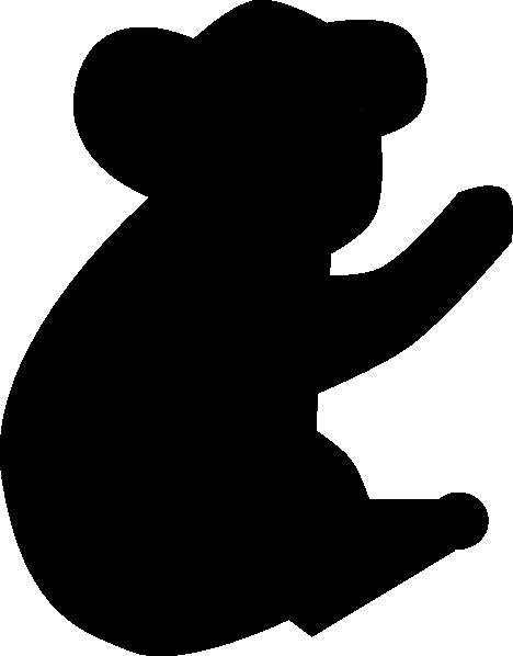 468x598 Koala Bear Silhouette Clip Art