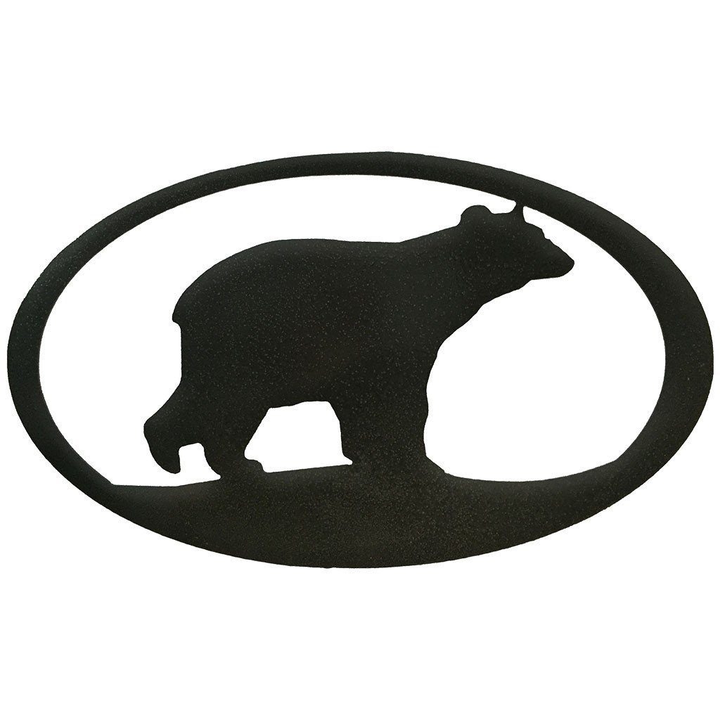 1024x1024 Metal Bear Silhouette
