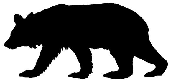 580x278 Silhouette Clipart Of Bears Collection