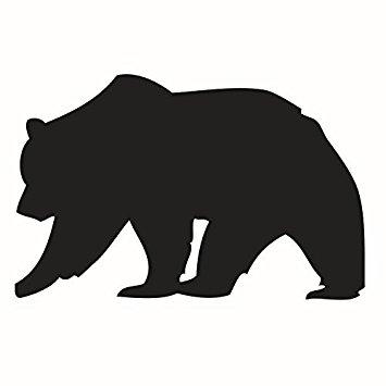 355x355 Dnven (22w X 24h) Big Black Bear Silhouette
