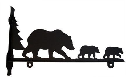 432x264 Village Wrought Iron Bear Family