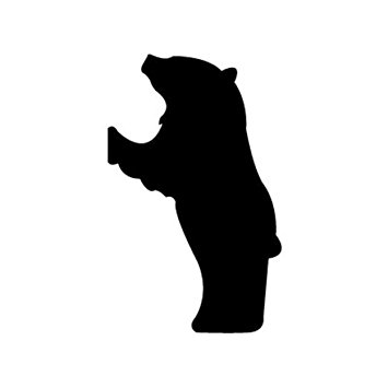 355x355 Woodworking Project Paper Plan To Build Hungry Bear Shadow Pattern