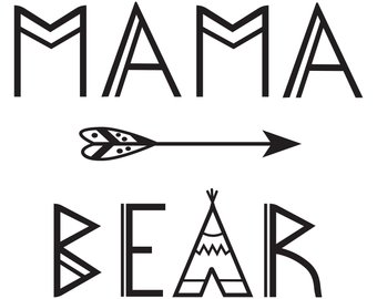340x270 Mama Bear Svg Bear Family Svg Mama Bear Dxf Bear Mom