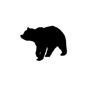 350x350 Grizzly Bear Paw Print Car Window Vinyl Decal Sticker