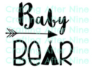 373x288 Baby Bear, Bear Family, Personal Amp Commercial Use, Silhouette