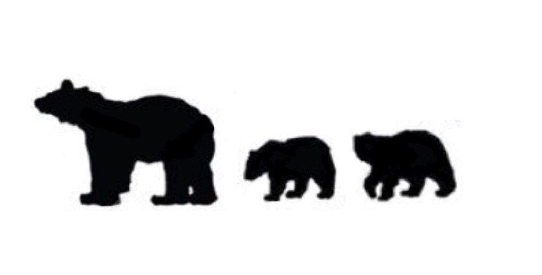 1105x562 Bear Cub Outline Clipart