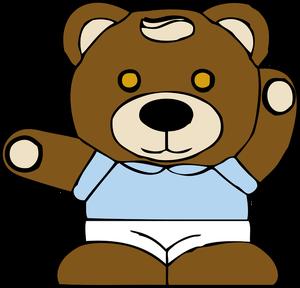 300x288 7032 Free Clipart Teddy Bear Outline Public Domain Vectors