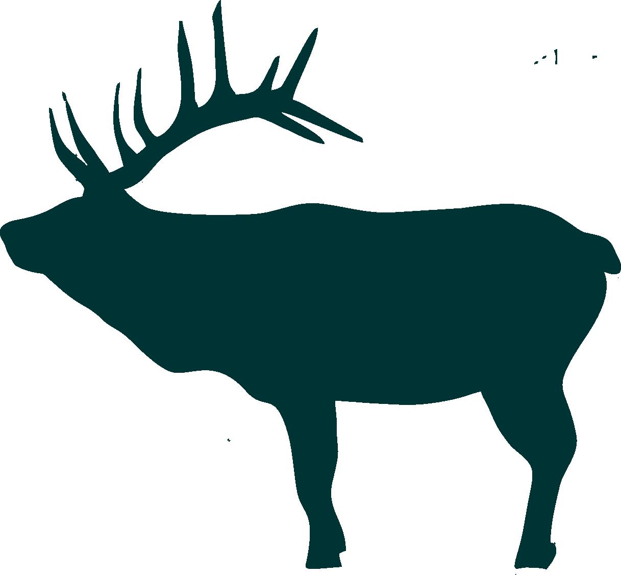 1217x1126 Elk Scene Silhouette Clipart
