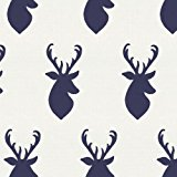 160x160 Cotton Hello Bear Buck Forest Deer Head Silhouette