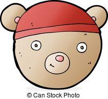 211x194 Teddy Bear Head Cartoon Vector Clip Art
