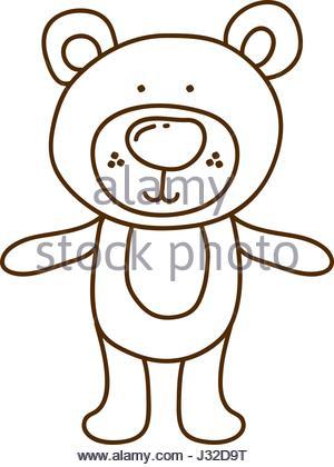 300x420 Vector Illustration Of Brown Bear Silhouette Stock Vector Art