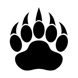 263x262 Bear Paw Print Silhouette Scrolling Sillouettes