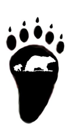 Bear Paw Silhouette at GetDrawings com | Free for personal