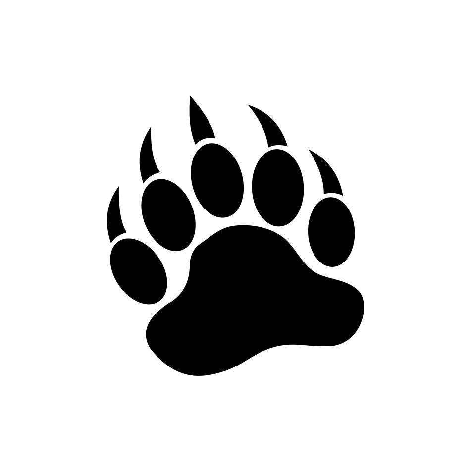 951x951 Bear Paw Graphics Svg Dxf Eps Png Cdr Ai Pdf Vector Art