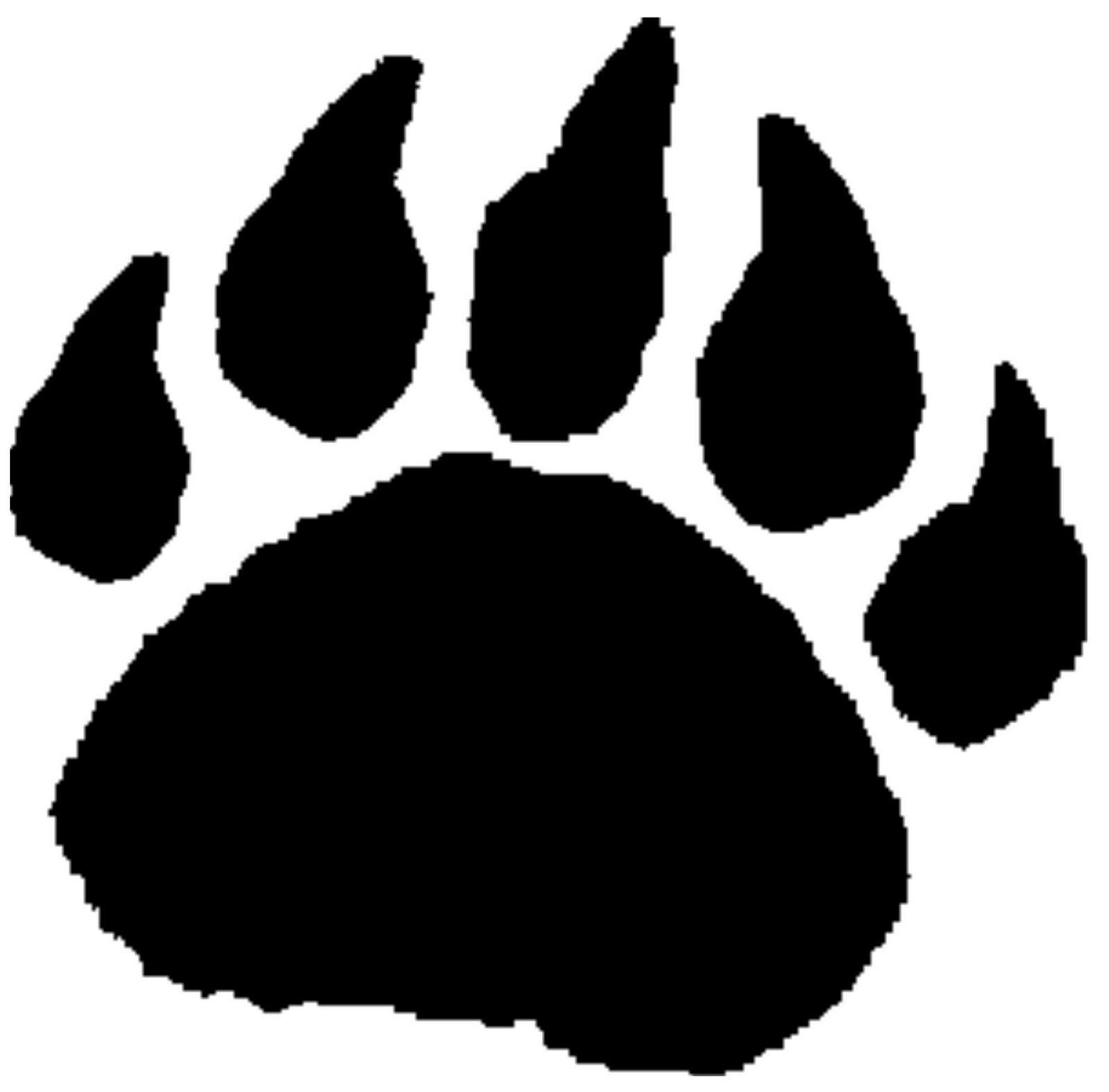 1600x1576 Bear Paw Outline