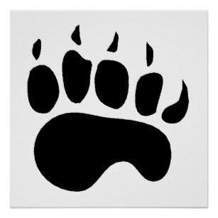 307x307 Bear Paw Posters Zazzle