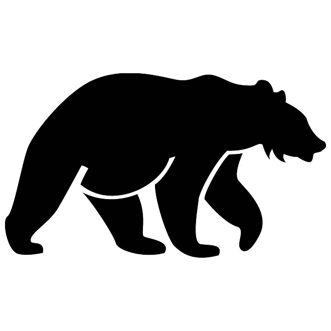 660x660 Bear Silhouette Vector Image