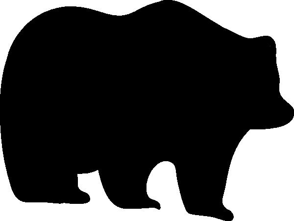 600x451 Bear Silhouette Clip Art