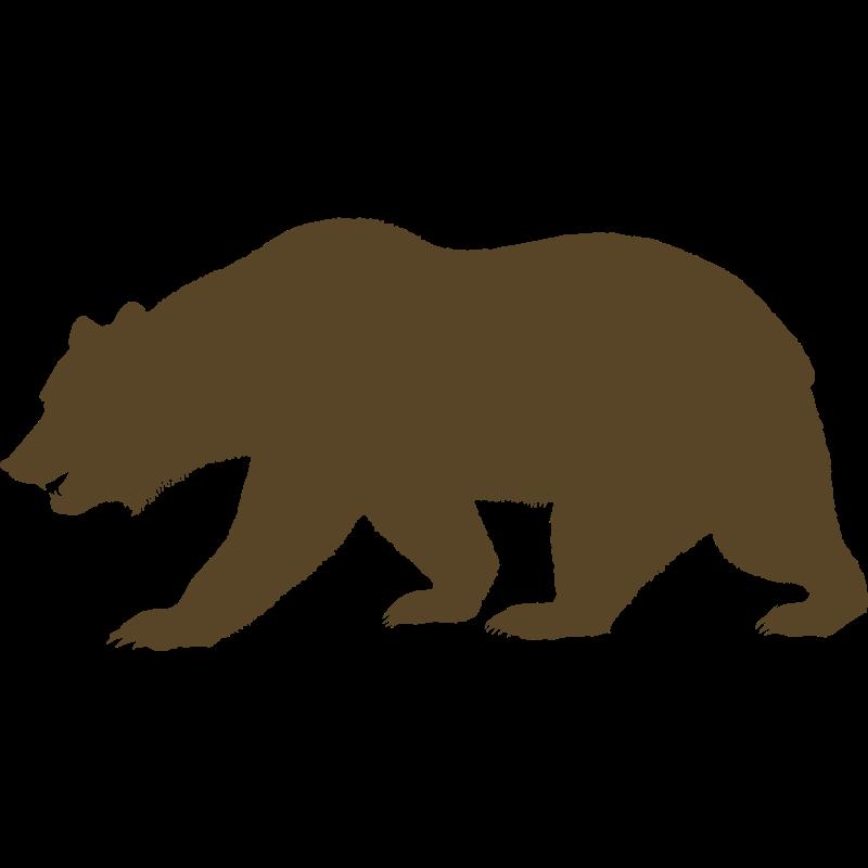 800x800 Black Bear Clipart California Bear