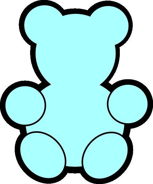 498x599 Blue Teddy Bear Clip Art
