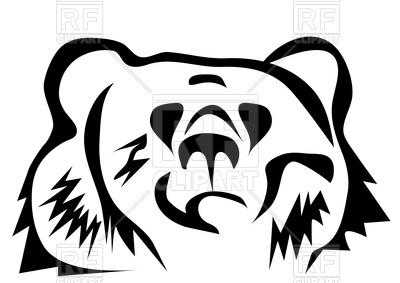 400x283 Brown Bear Silhouette Royalty Free Vector Clip Art Image