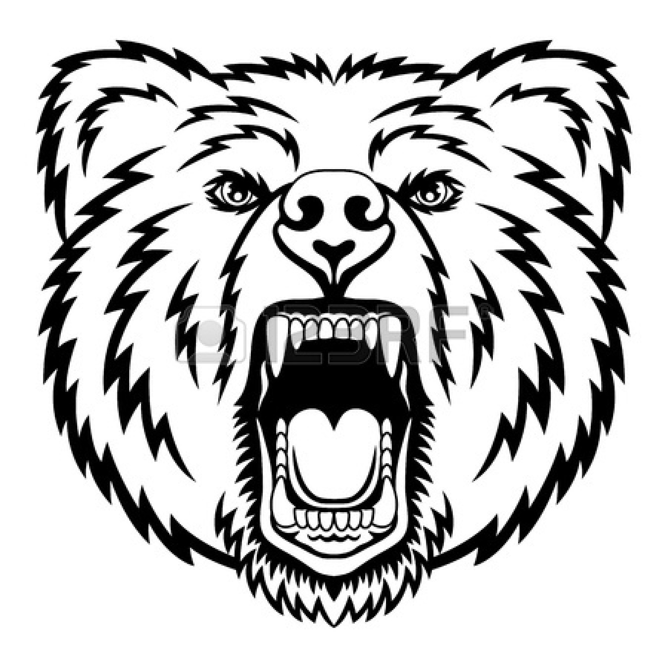 1350x1350 Grizzly Clipart