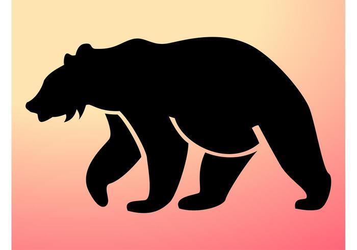 700x490 Bear Cub Silhouette Clip Art