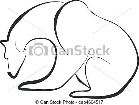 450x342 Bear Silhouette In Black Vectors Illustration
