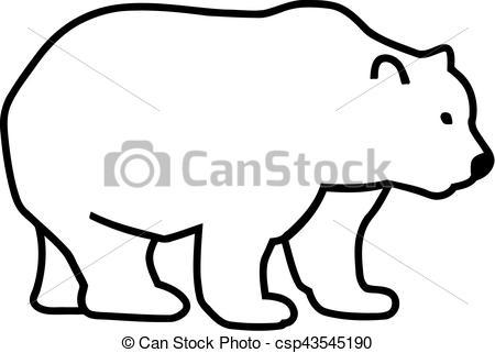 450x321 Comic Bear Silhouette Eps Vectors