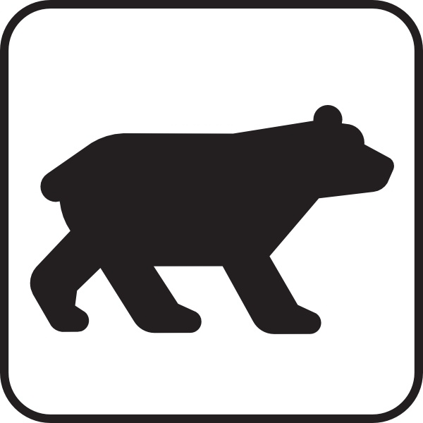 600x600 Bear Viewing White Clip Art Free Vector In Open Office Drawing Svg