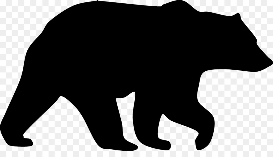 900x520 American Black Bear Grizzly Bear Silhouette Clip Art