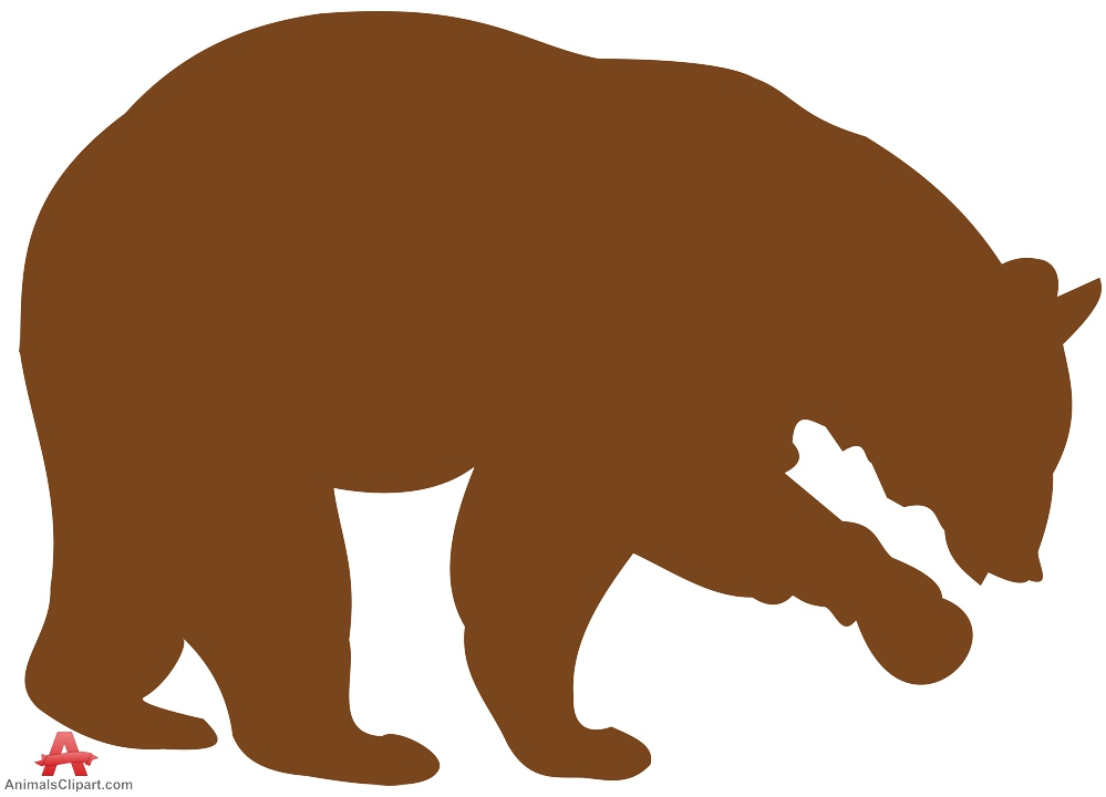 999x720 Brown Bear Silhouette Free Clipart Design Download