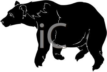 350x237 Picture Of A Silhouette Of A Bear In A Vector Clip Art