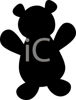 269x350 Animal Silhouette Of A Teddy Bear