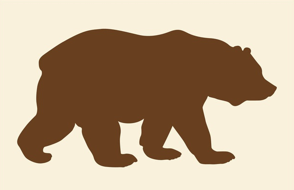 603x389 Walking Bear Silhouette Art Ai, Pdf Format Free Vector Download