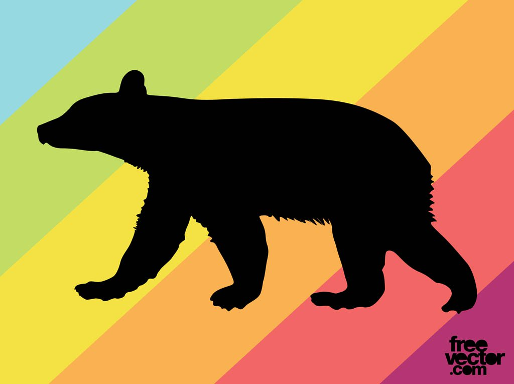 1024x765 Bear Cub Silhouette Vector Art Amp Graphics