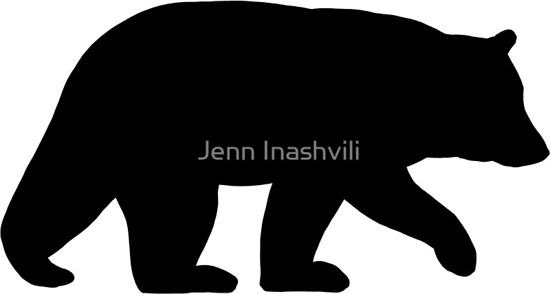 800x429 Black Bear Silhouette Stickers By Jenn Inashvili Redbubble