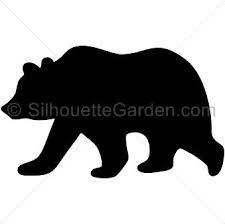 225x224 Black Bear Pattern. Use The Printable Outline For Crafts, Creating