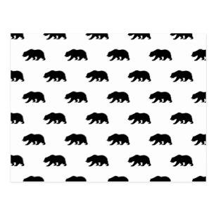 307x307 Grizzly Bear Silhouette Postcards Zazzle