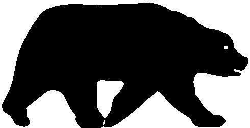 490x251 Standing Bear Silhouette Clip Art