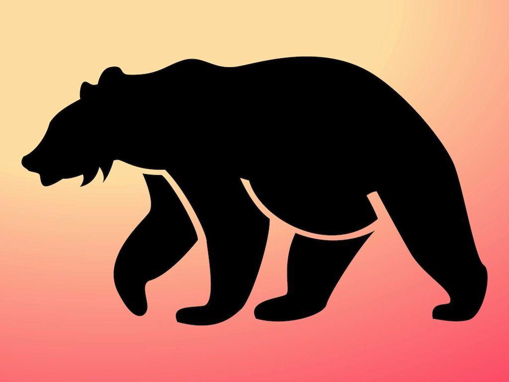 1024x768 Bear Silhouette Pattern Free Bear Silhouette Dl